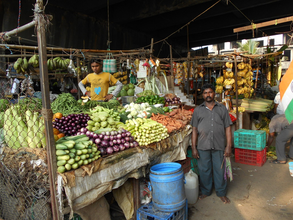 Vegetable stall, Chembur.