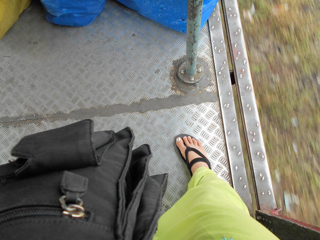 On train...